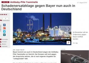 Schadenersatzklage gegen Bayer nun auch in Deutschland