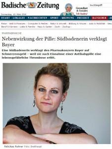 Felicitas Roher verklagt Bayer