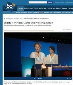 Baden online Pillen Opfer kämpft weiter